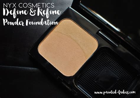 Nyx Define Refine Powder Foundation nyx define and refine powder foundation review