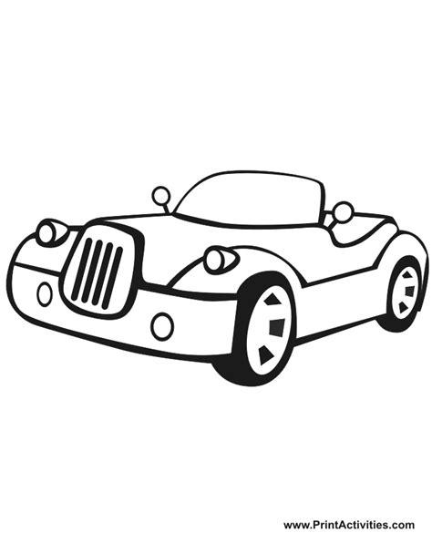 coloring pages of convertible cars color car coloring home