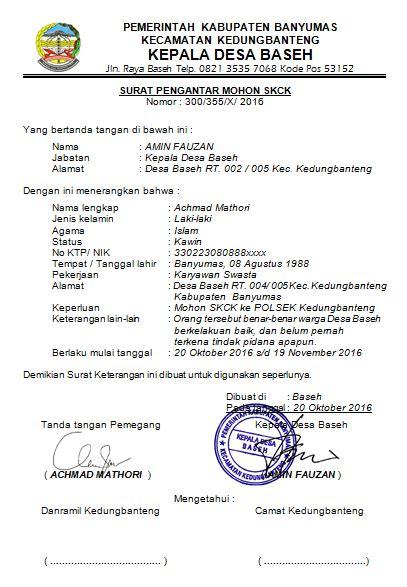 Surat Pengantar Sponsor by Contoh Surat Pengantar Mohon Skck