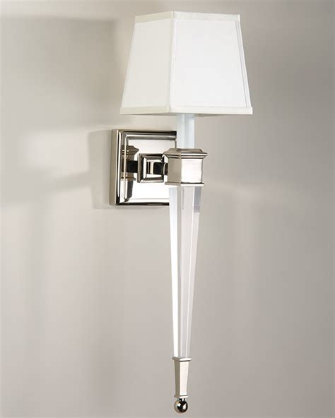 wall sconce brass and solid crystal sconce in polished
