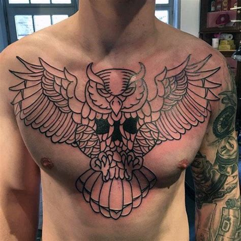 outline tattoos for men 70 traditional owl designs for wise ink ideas