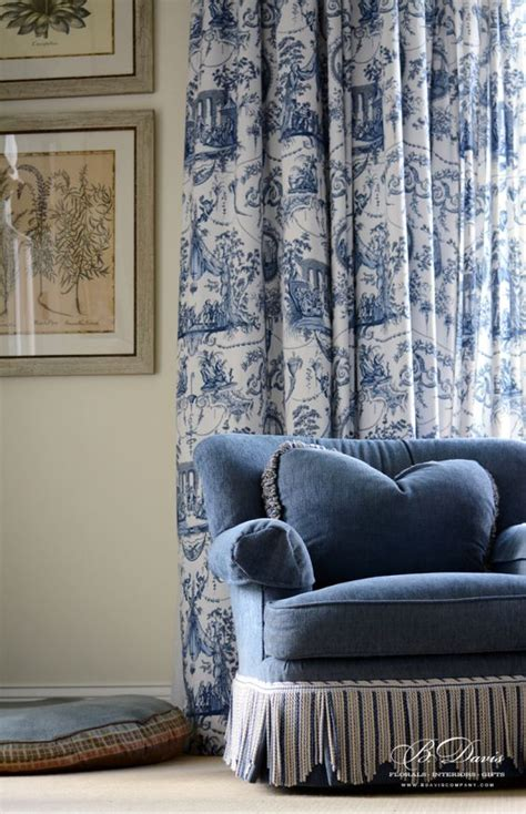 blue toile drapes french the o jays and toile on pinterest