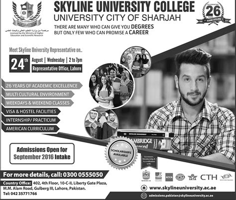Mba In Sharjah by Skyline College Sharjah Bba Mba Admissions
