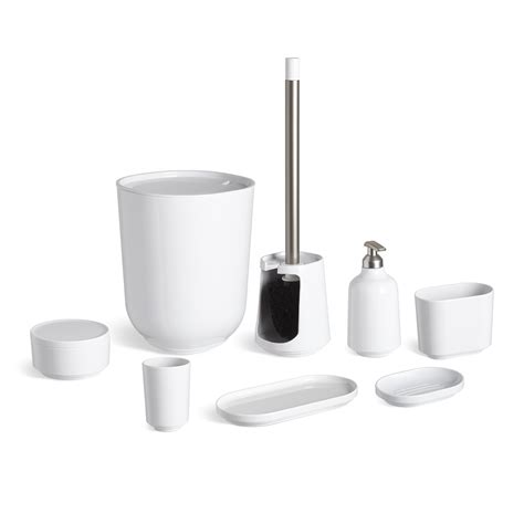Bathroom Commode Accessories Step Bath Collection In White Umbra