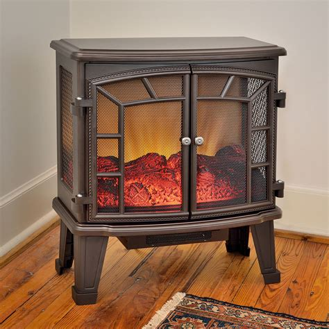 duraflame 950 bronze electric fireplace stove with remote