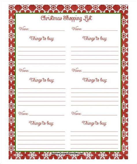 free christmas shopping list pdf download 24 christmas