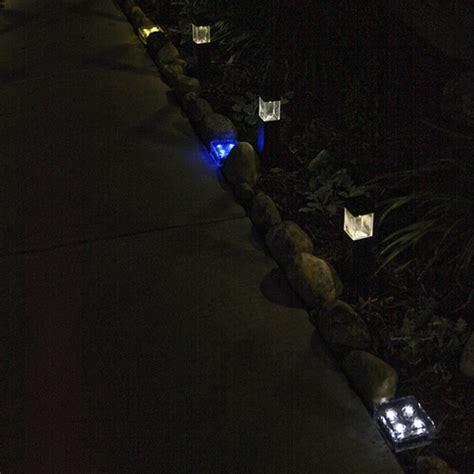 Lights Com Home Garden Landscape Iced Glass Medium Warm White Solar Path Lights