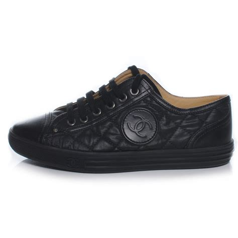 chanel sneakers chanel leather quilted cc sneakers black 36 46046