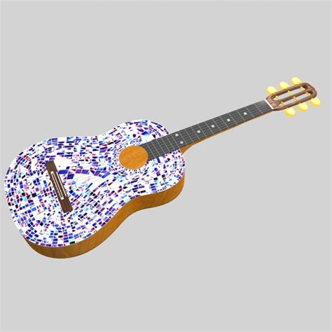 Mozaik Model mosaic guitar 3d model turbosquid 1190445