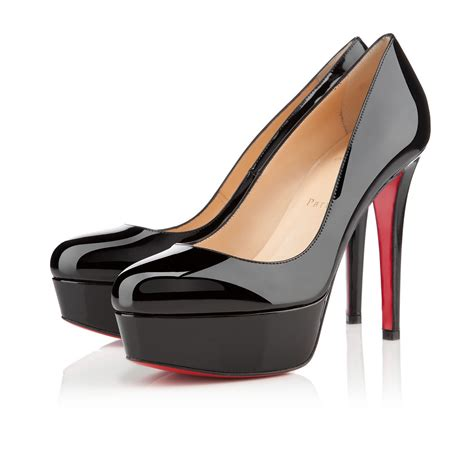 Shoes Christian Louboutin Po188 120 black patent leather shoes christian