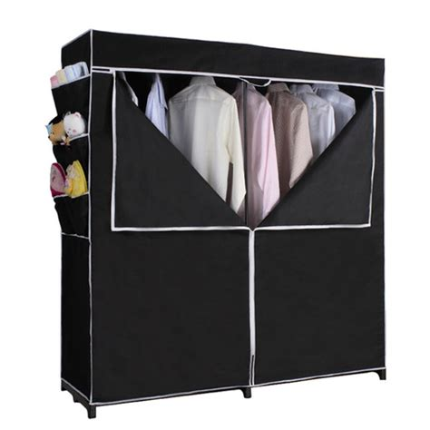 whitmor rod freestanding closet silver black