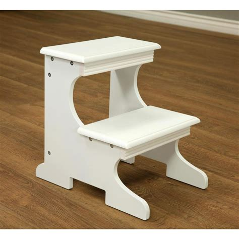 White 2 Step Stool megahome white 2 step stool ss52wh the home depot