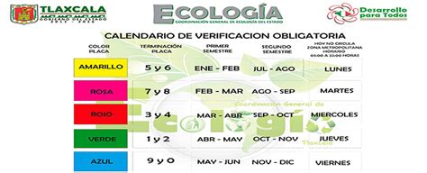 Calendario Verificacion Vehicular Costos Calendarios Y Requisitos De La Verificaci 243 N