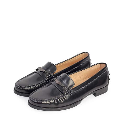 loafers leather tods leather loafers black s 37 4 new luxity