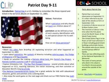 Patriot Day Worksheets by Free Patriot Day 9 11 Activities And Printables