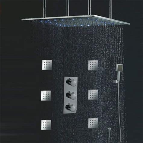Hi Tech Kitchen Faucet 24 Quot Led Ceiling Shower Rain Head Set With Body Massage