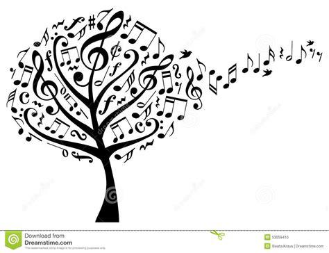 musical tree arbre de musique avec des notes vecteur illustration de