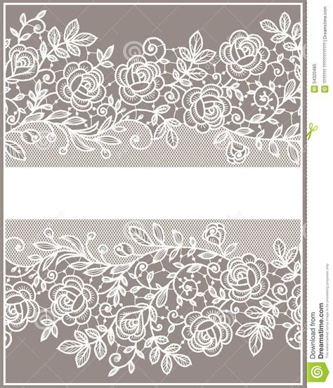 simple lace template for cards card roses lace pattern stock vector illustration of