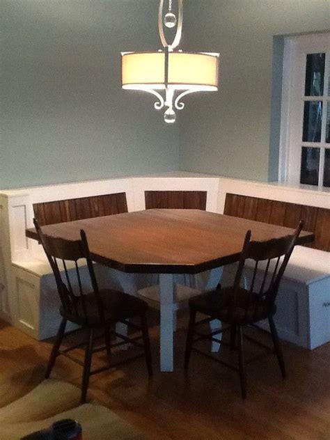 custom breakfast nook  maple table  baltic