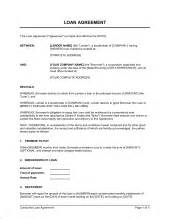 loan agreement template amp sample form biztree com