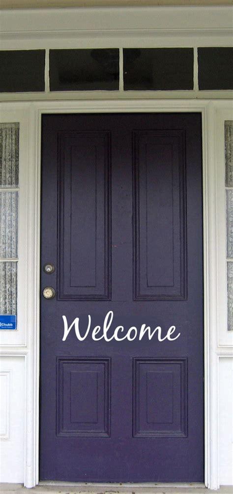 Front Door Welcome Signs Welcome Front Door Vinyl Sign Decals Stickers Vinyl