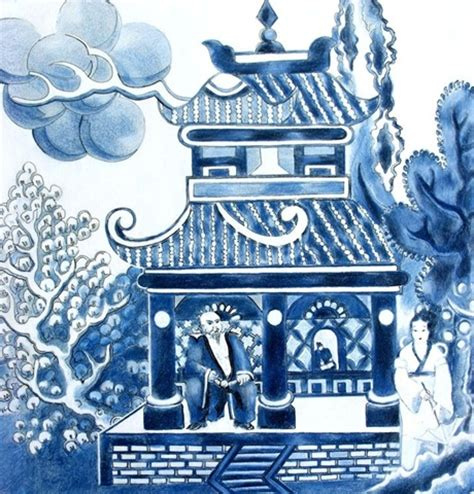 willow pattern artwork review by christine nicholls of the willow pattern story