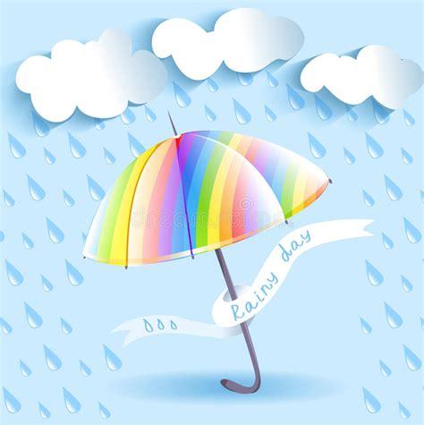 clipart pioggia ombrello e pioggia dell arcobaleno illustrazione