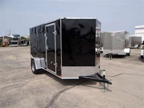 Trailer Back Door by 6 X 12 Black Cargo Trailer With R Rear Door