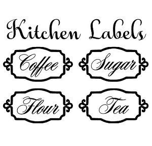 printable kitchen canister labels packing tape image transfer canister labels decals stickers vinyl art ebay
