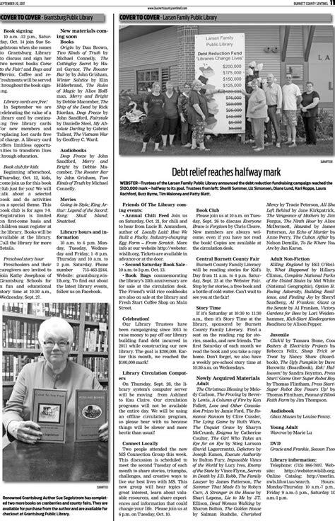 Burnett County Sentinel 09 20 17 by Burnett County