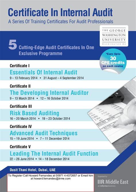 certificate in internal audit