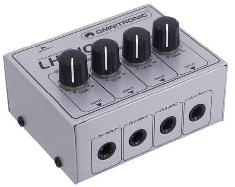Mixer Audio Mini omnitronic lh010 passive four channel mixer mini mixers distributors