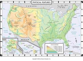 map of the us and canada physical features atlas map physical features