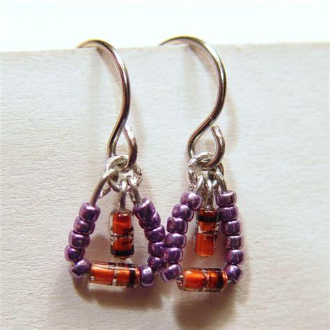 diode jewelry diode earrings w purple stewart jewelry designs