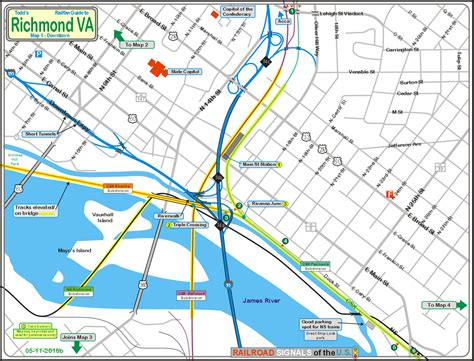 richmond va map railfan guide to richmond va downtown