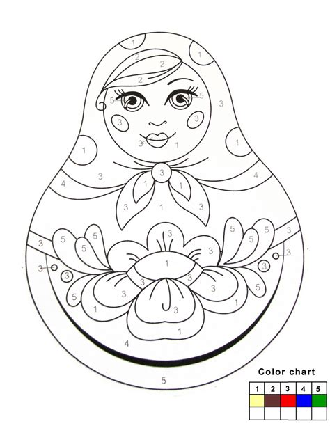 russian nesting dolls template free russian dolls coloring pages