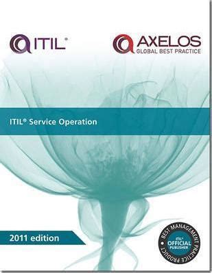 Cabinet Office Itil by Itil Service Operation The Cabinet Office 9780113313075