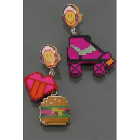 boucles d oreilles smiley pixel roller bijoux n2 winaretta