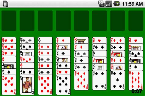 games free mobil freecell card game android apps on google play