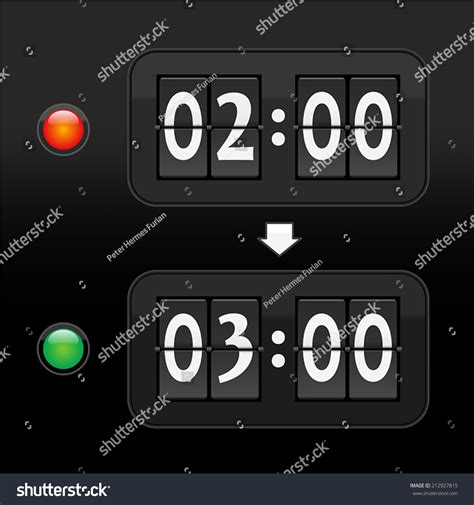 how to put a timer on a light switch put clock forward one hour daylight stock vector 212927815