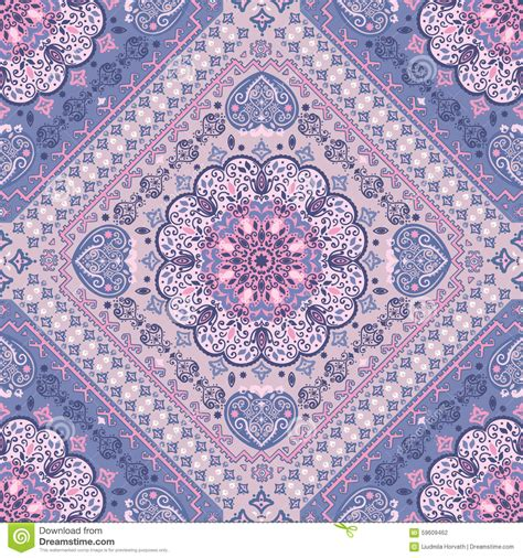 seamless rug pattern turkish rug style seamless pattern stock vector image
