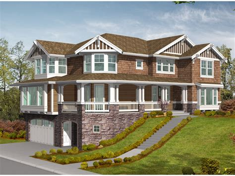 front sloping lot house plans medway tudor home plan 071d 0166 house plans and more