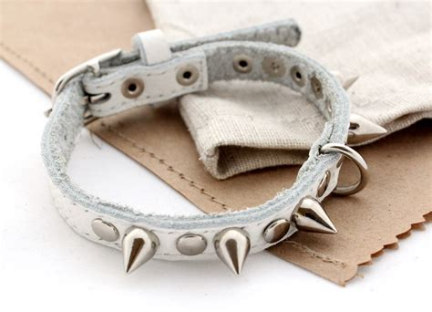 spikes dogs leather collar spikes cat puppy collar studs and
