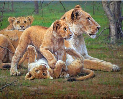 imagenes de leones bravos cuadros pinturas oleos leones pintados en 243 leo sobre lienzo