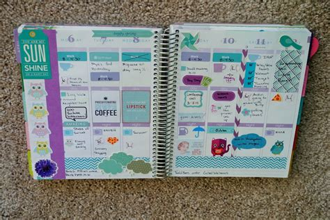 printable erin condren life planner erin condren life planner weekly spread april 6th to