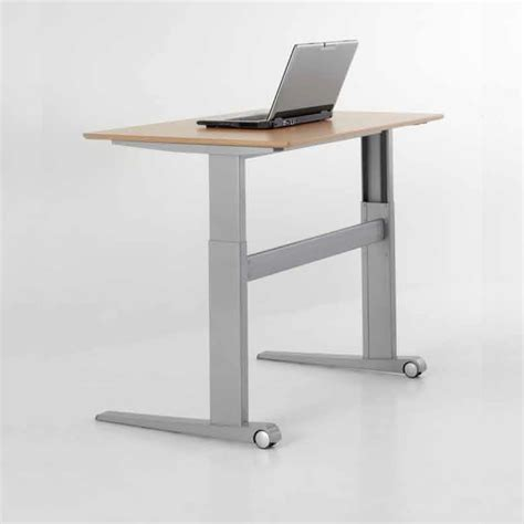 adjustable height desk electric conset 501 17 rectangular height adjustable electric desk