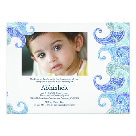baby rice ceremony invitation card template free personalized hindu ceremony invitations