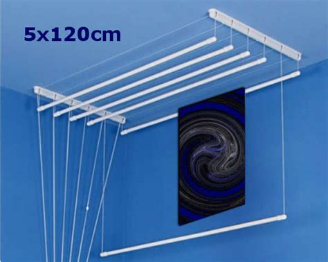 Ceiling Air Dryer by White Ceiling Dryer 5x120cm Pulley Airer Clothes Laundry