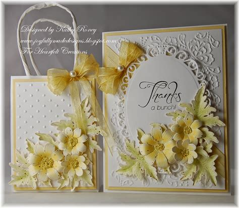 Heartfelt Handmade - joyfully made designs yellow daisies gift set heartfelt