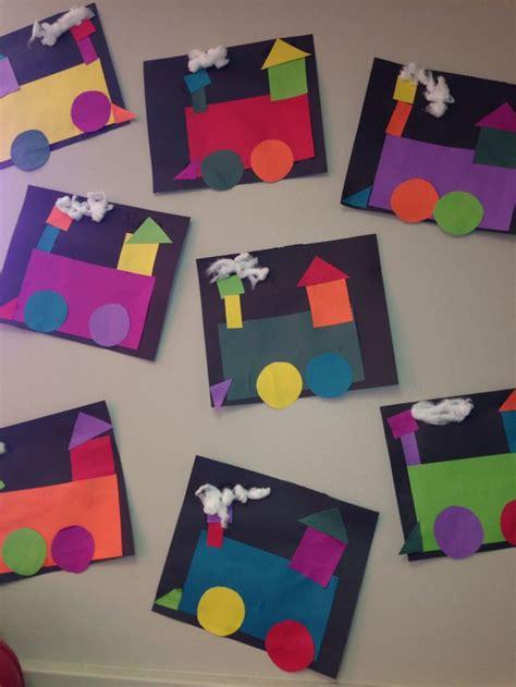 shape pattern for preschoolers shape craft transportation week shape train